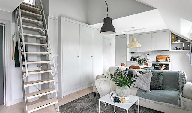 43㎡阁楼装修设计 打造北欧风新家居生活