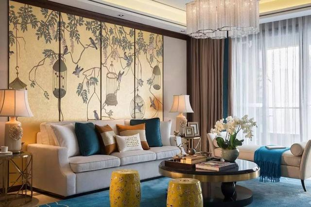 136㎡中式公寓装修 色彩饱和颇有唐韵