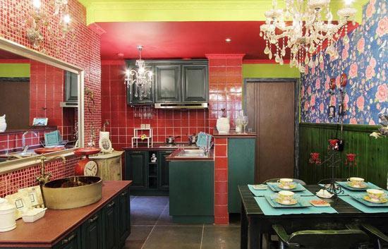 餐厅、厨房、洗手台