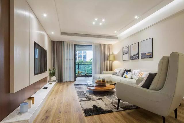 127平米新房装修设计 打造温暖自然的高档家居