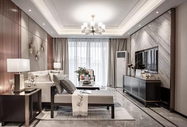 135㎡中式简约风装修设计 呈现出轻奢主义的家居质感