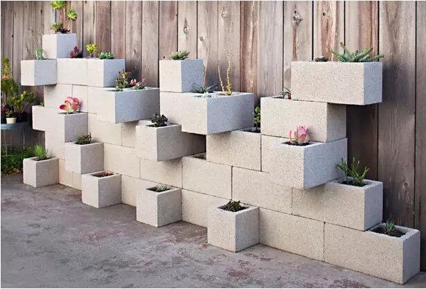 水泥空心砖植物种植创意 以绿植的名义让你家美翻天