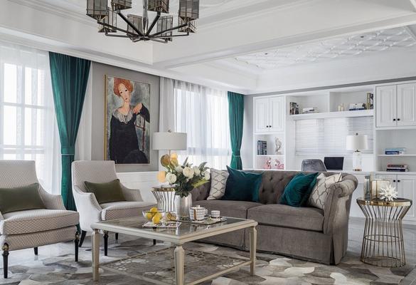 轻奢美式风新房装修设计 打造一家三口的幸福之家