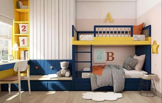 双人儿童房设计与装修 俩娃和谐同处的最好方式