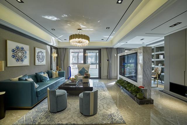 150㎡现代轻奢风家居装修 营造出优雅高端的家居氛围