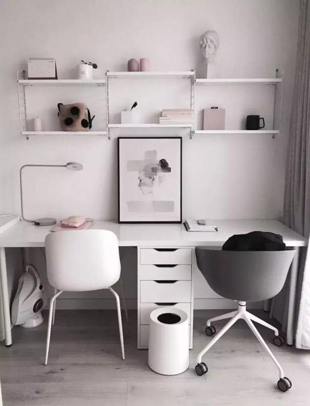 书房双人书桌装修设计案例 来看看你喜欢哪一款