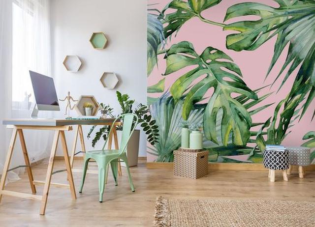 给家里墙壁种上一片华丽图案 春天来学着贴壁纸吧