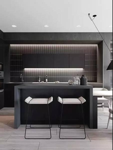 廚房燈光照明設計圖片