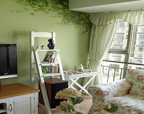 豆绿色卧室装修 演绎别致派生活