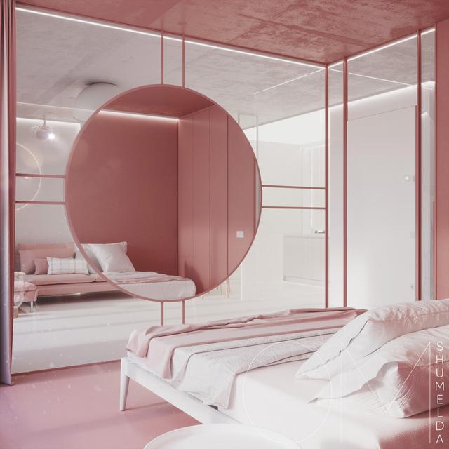 粉红色与灰色搭配的室内设计有周记心的人一园林景观v灰色少女250字图片