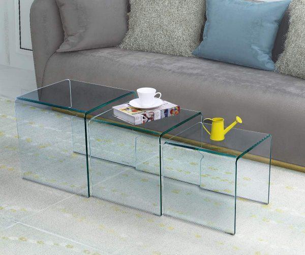 每个现代时尚的客厅都应该有个漂亮的玻璃茶几