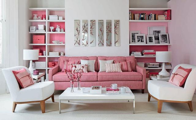 50个粉红色的客厅与配饰 分分钟唤起你的少女心