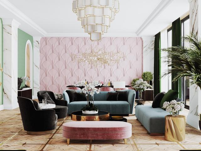 51個粉紅色的客廳與配飾,分分鐘喚起你的少女心