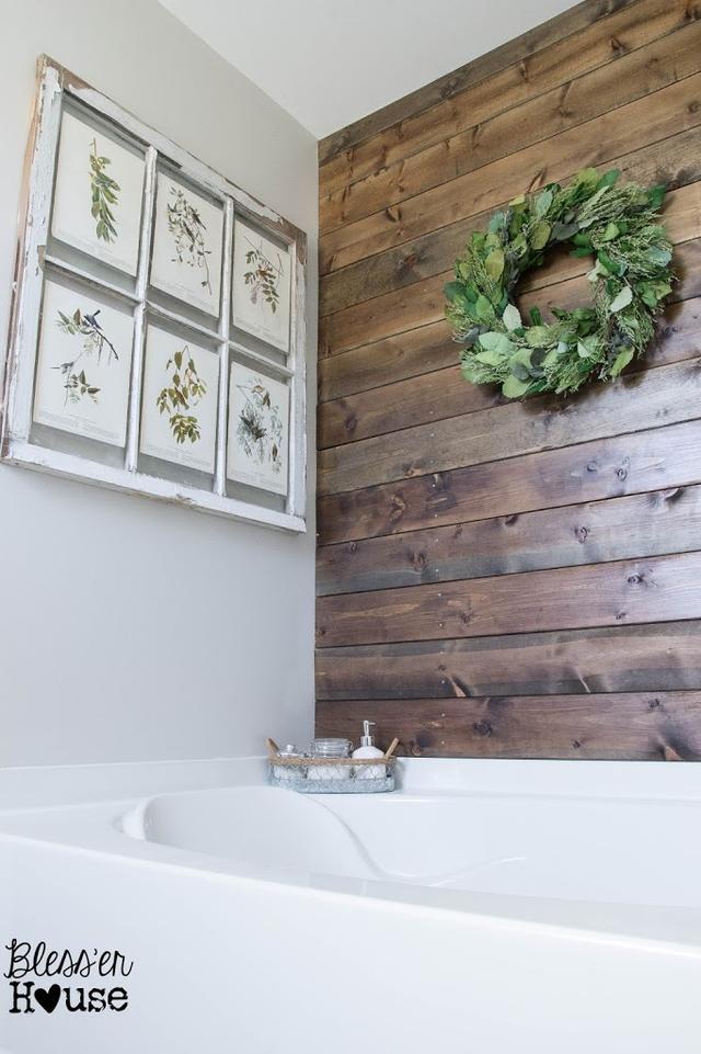 添加一些农家暗示性细节 创建一个农舍式浴室