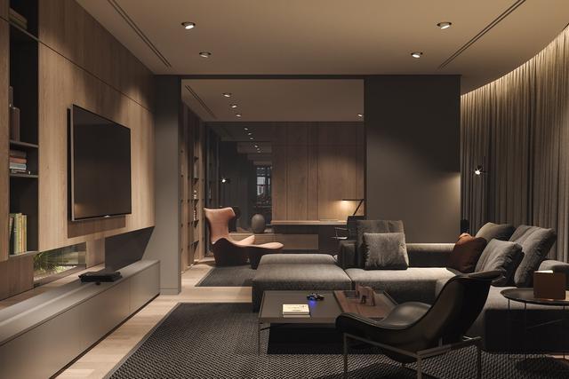 将绿植与自然材料搬进公寓 打造精致大气的极简主义空间