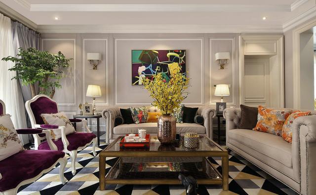 280平简欧别墅设计 色彩运用很出众让空间沉静而不失活力