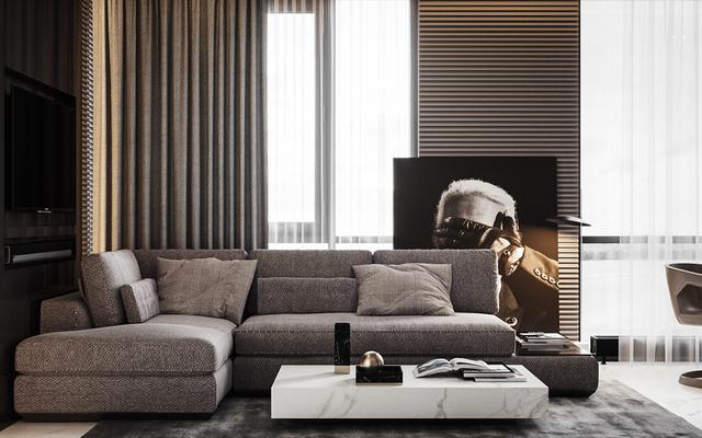高端时尚的紧凑型公寓装修设计