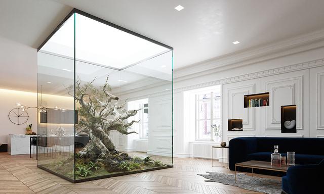 将特点搬进室内让v特点充满气息的自然园林工程设计图的花园图片