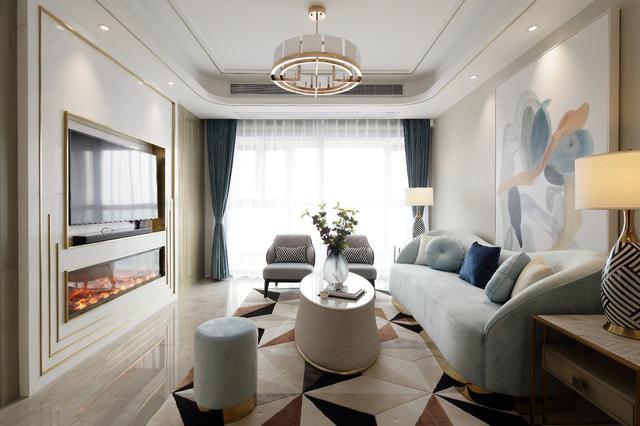 130㎡现代轻奢新房装修 营造华丽优雅的家居看空间