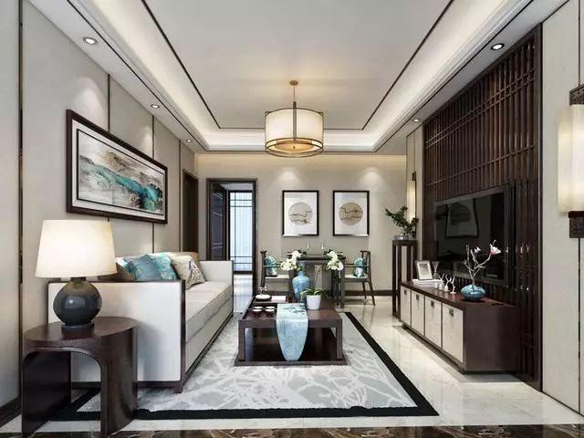 2019新中式客厅装修效果图 被这样的客厅诱惑到了