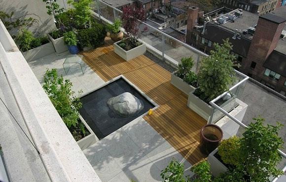 漂亮的楼顶花园设计 简直就是你家的私家花园!
