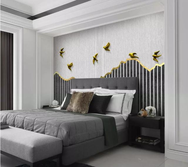 卧室床背景墙装修效果图 床头设计也可以很独特