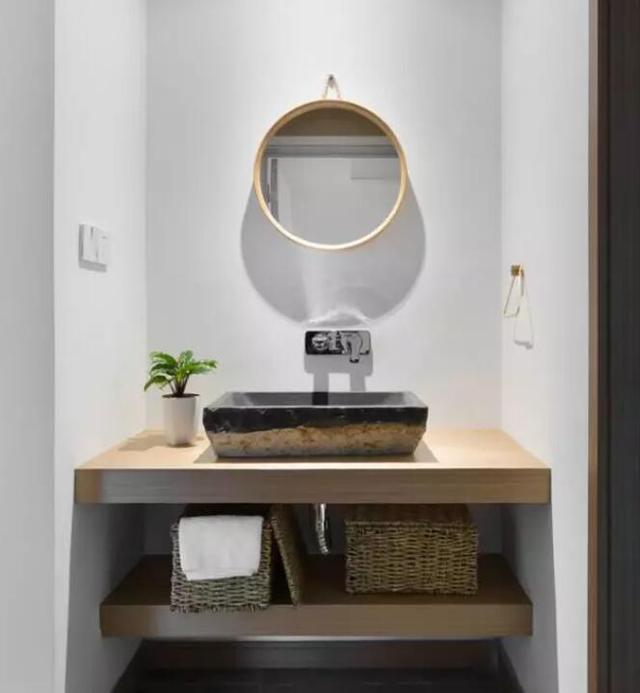 卫生间洗漱台效果图 每一款都能让你每天心情美美哒