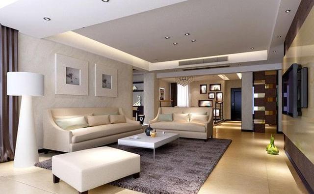 客厅不放茶几效果图 用这些代替空间更宽敞