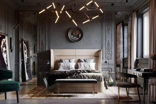 2019高端大气的卧室套房设计 40款每一款都酷酷的