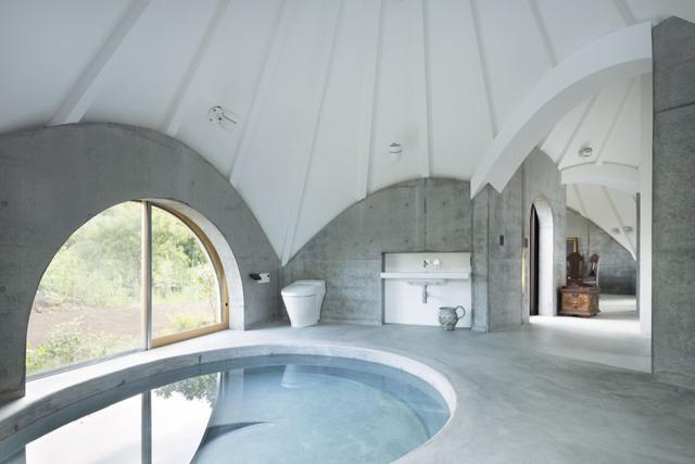 世界各地的混凝土風格的浴室裝修效果圖 簡約清新還時尚