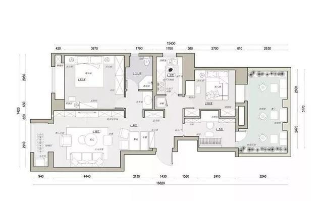 房屋设计图140平方米 明朗温暖&有风景也有爱的生活空间