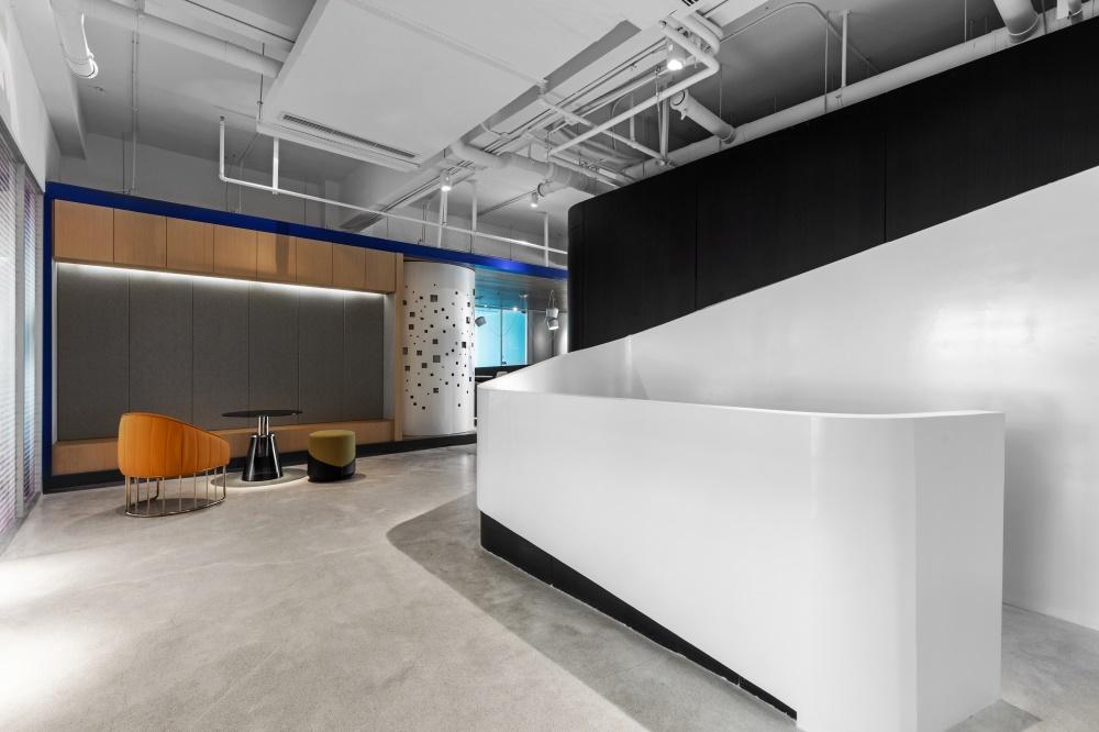 办公空间<蓝•白>