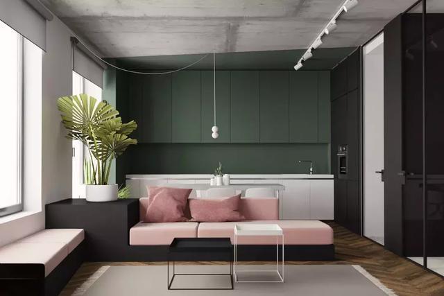 电视机+沙发+茶几已经过气啦 客厅可以设计成这样