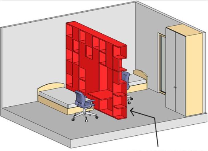 二胎家庭住小户型不用愁 试试一房两床的隔断法