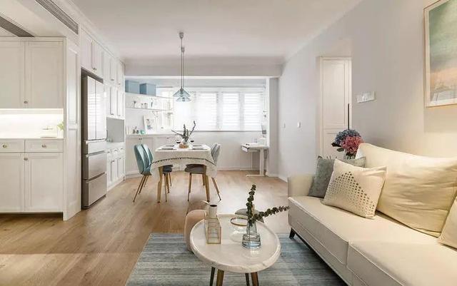 80㎡北欧风格家 客厅砌墙+U型厨房+定制儿童房