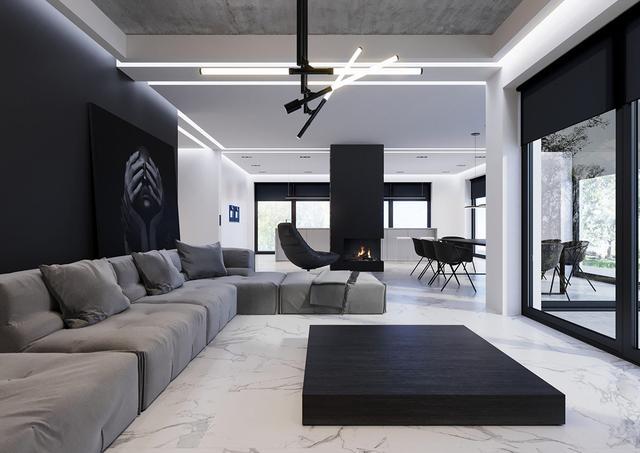 黑白灰現代簡約風格裝修效果圖 簡單即是美!