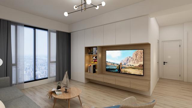 2020客厅电视柜设计方案 收纳空间翻倍
