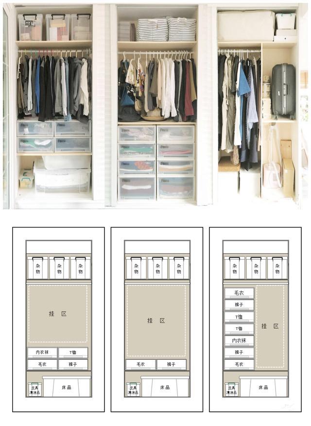 衣柜多格设计