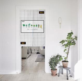 入户门对卫生间门处理