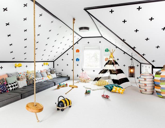 打造创意阁楼游戏室 在室内发现更多乐趣