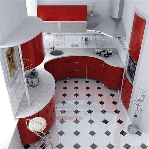 把厨房布局成半圆形的