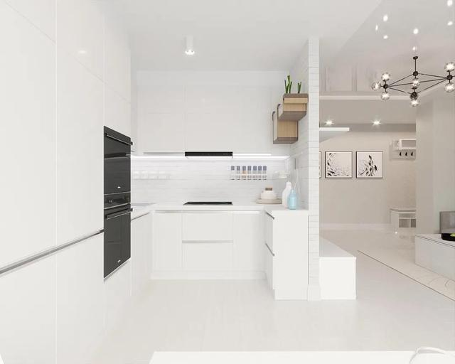 厨房如何布局最实用 借鉴20款超好看的U型厨房