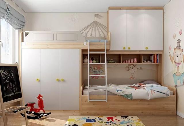 8款儿童房上下床设计 二胎家庭必备
