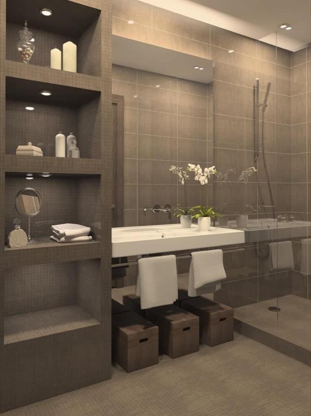 精巧的浴室搁架创意 让你的浴室空间更宽敞整洁