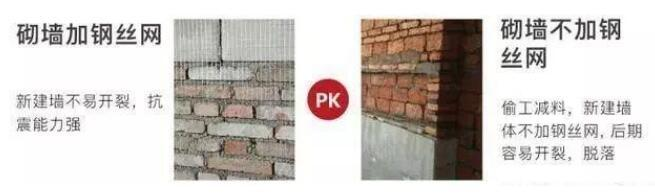 墙体是否有加钢丝网