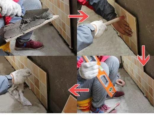 装修墙砖地板砖铺贴知识