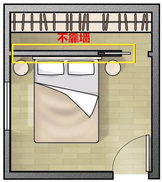 大卧室学这样设计 床头往后移70cm多个衣帽间