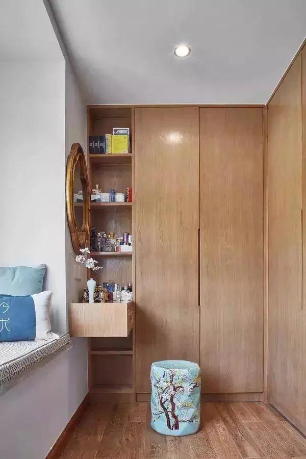 卧室别只做衣柜了 试试衣柜加转角梳妆台设计