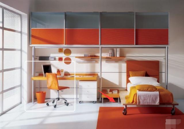 儿童床的改良设计 加上4个滑轮便利性与趣味性更强