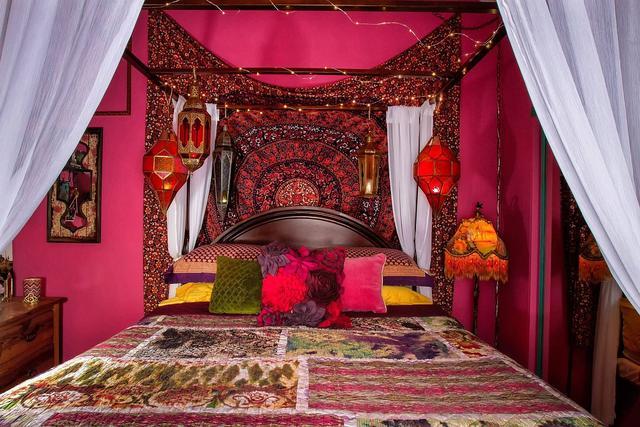 丰富多彩的别致空间 令人着迷且舒缓的波西米亚风格卧室